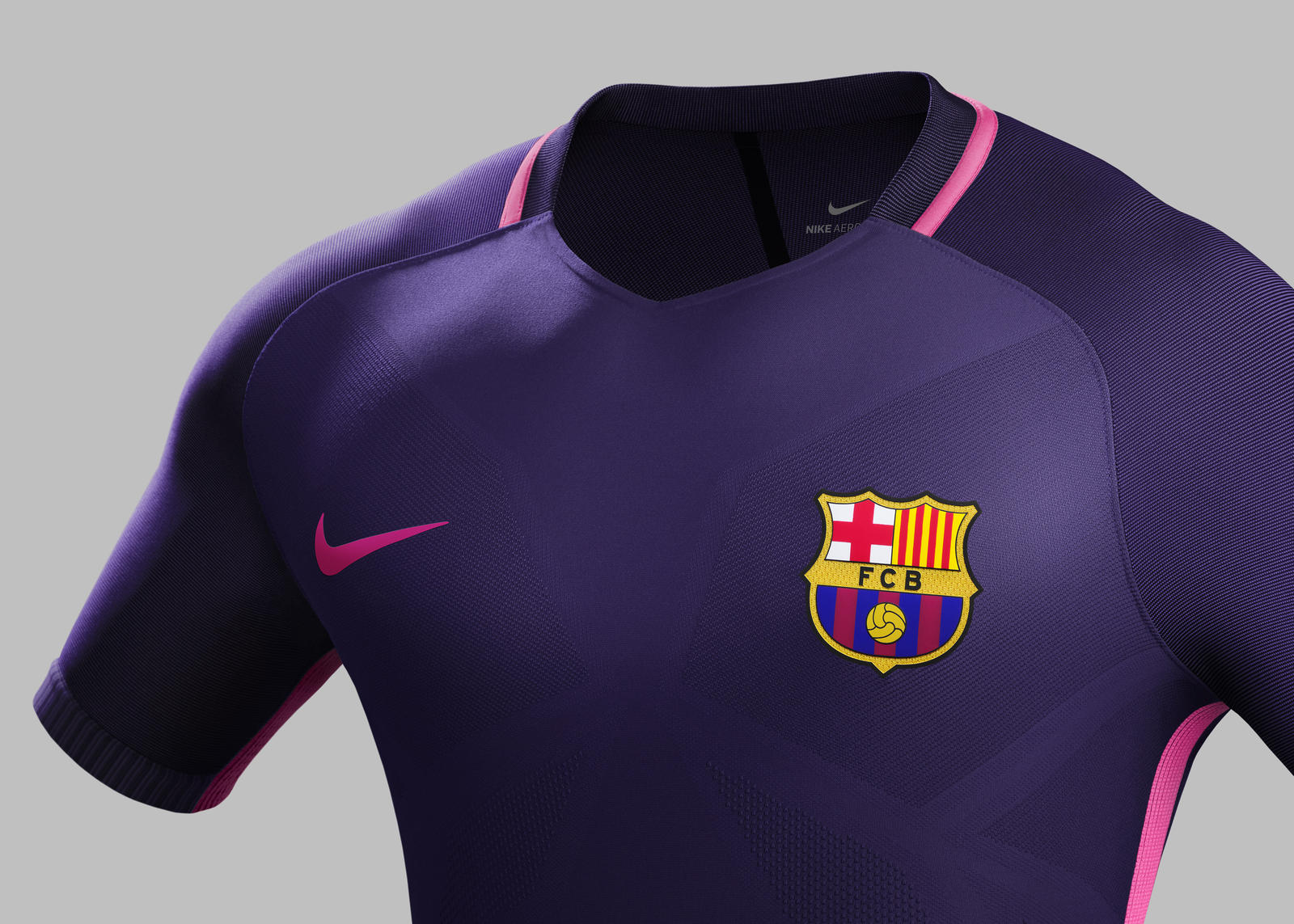 96cd8ad9c0a Su16 CK Comms A Front Match FCB R. FC Barcelona away kit 2016-2017.  Su16 CK Comms A Crest Match FCB R