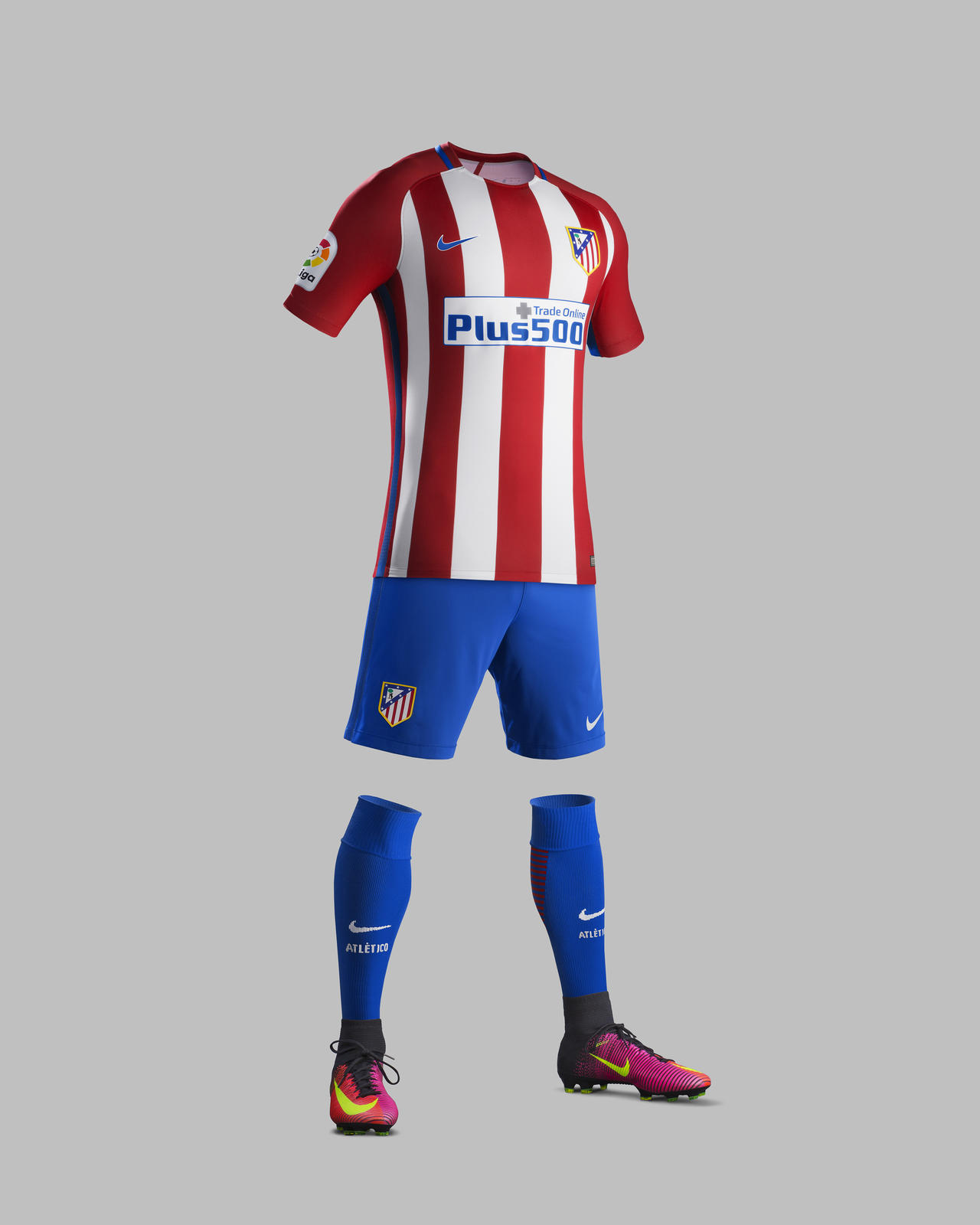 750e5256c THE HOME KIT. Su16_CK_Comms_H_Full Body_Match_AT Madrid_R. The Atlético de  Madrid Home ...