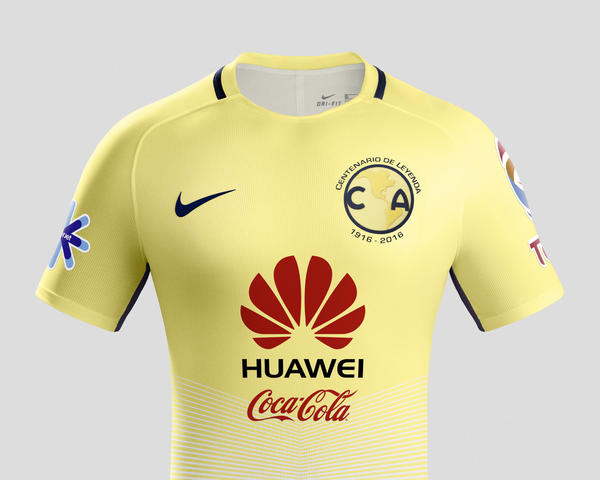 club america home kit 2016 17 - Yellow Home 2016