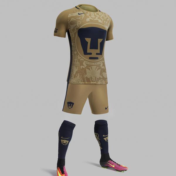 8a67d5494 Pumas Home and Away Kits 2016-17 - Nike News
