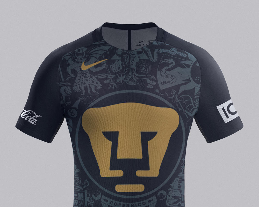 Pumas Home and Away Kits 2016-17