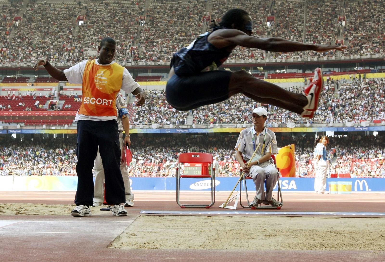 Lex Gillette long jump