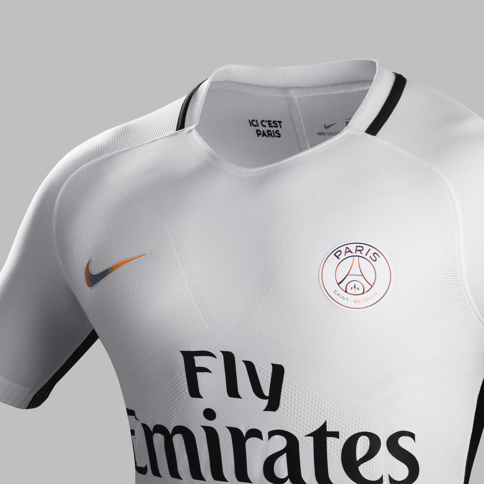 Fa16 CK Comms 3RD Venting Match PSG R. PARIS Saint-Germain 3rd kit 2016-2017 AeroSwift  technology. Fa16 CK Comms 3RD Crest Match PSG R fa1d007a2