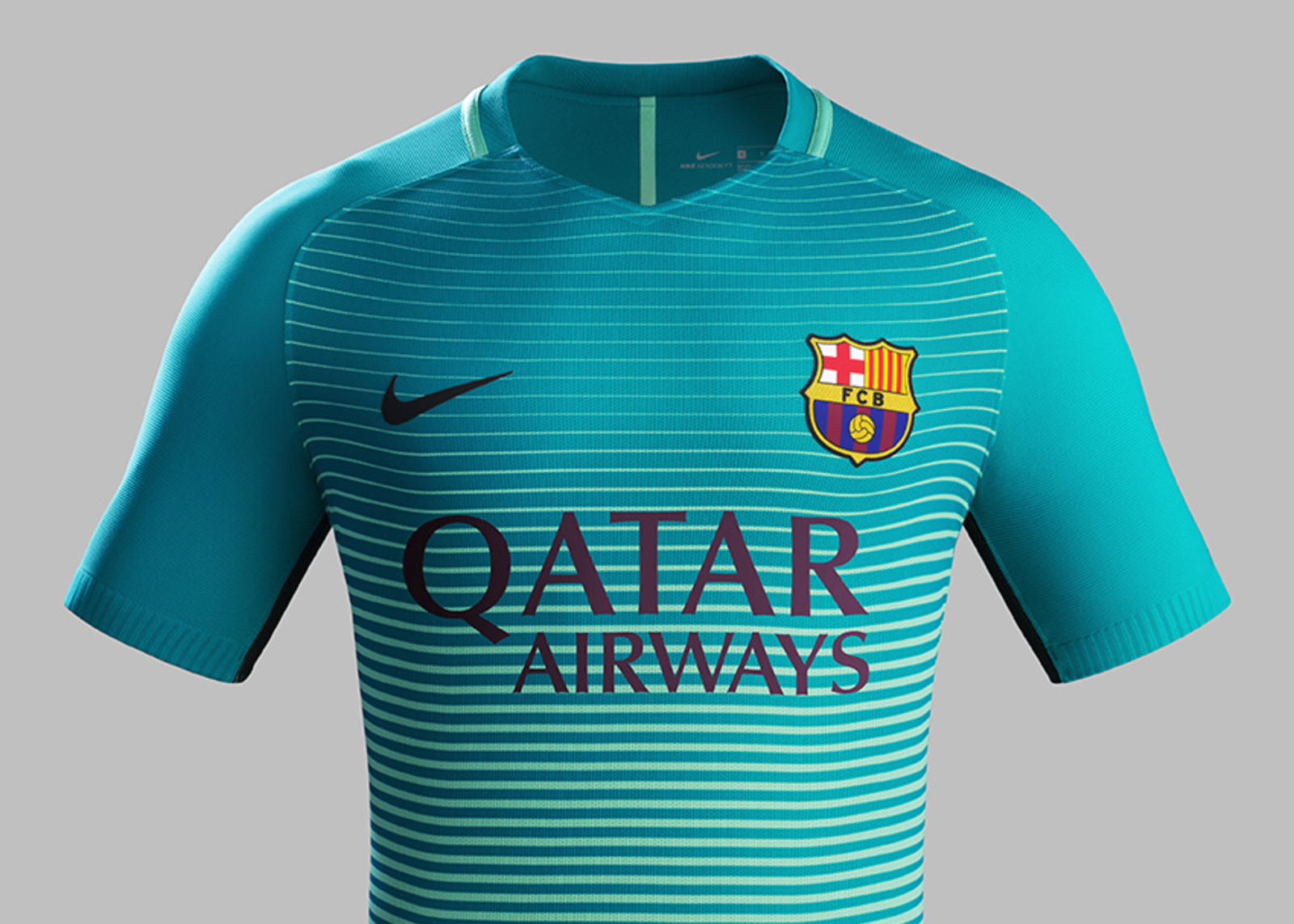 7a25fd0821 Fa16 CK Comms 3RD Crest Match FCB. F.C. Barcelona third kit.  Fa16 CK Comms 3RD Front Match FCB