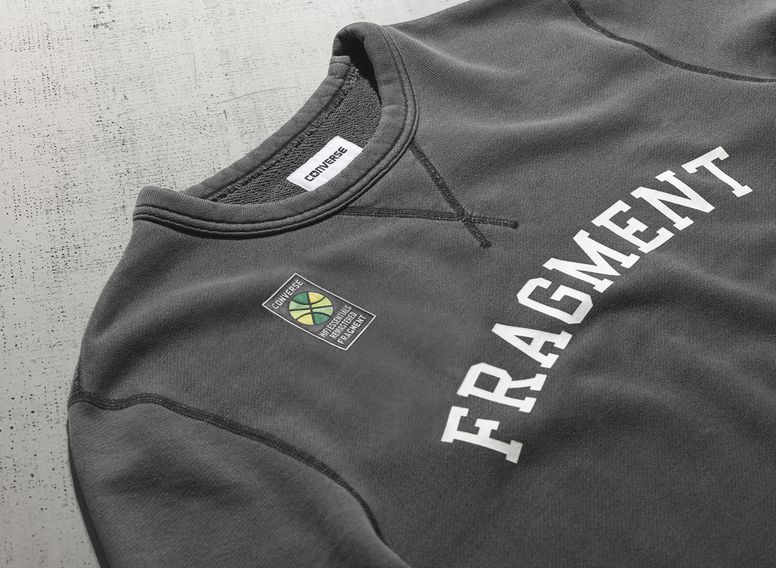 06f6a642276c Fh16 Apparel Fragment Crewneck Detail3 10003837. To introduce the Converse  Essentials collection ...