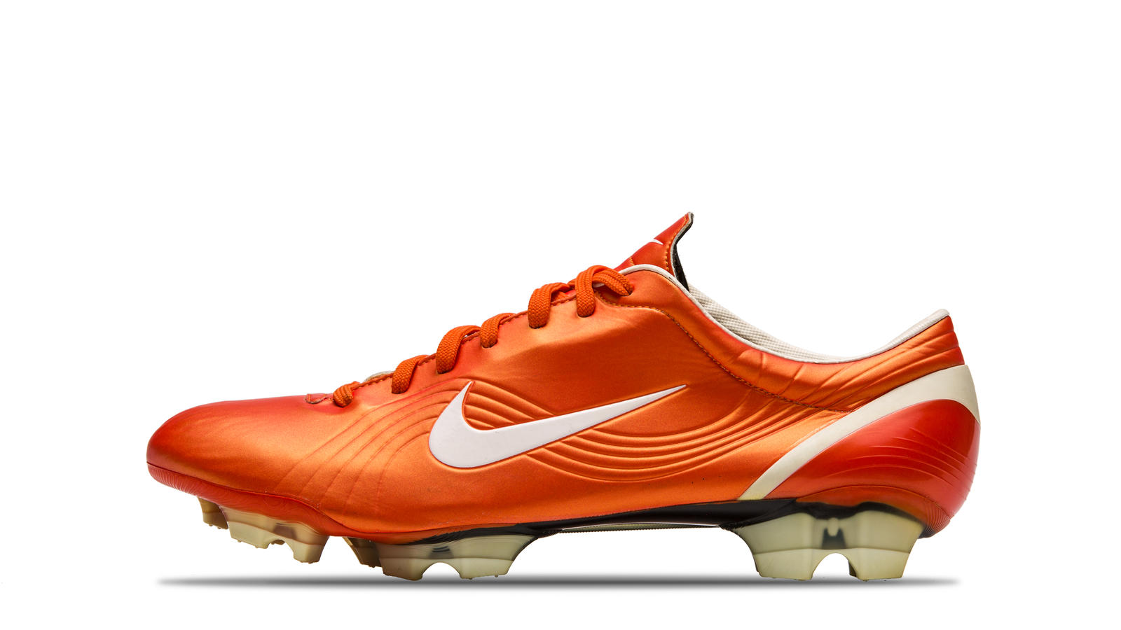 ccf64dd76efbbb Nike boots worn during key moments of Cristiano Ronaldo s career  2003  Mercurial Vapor Orange