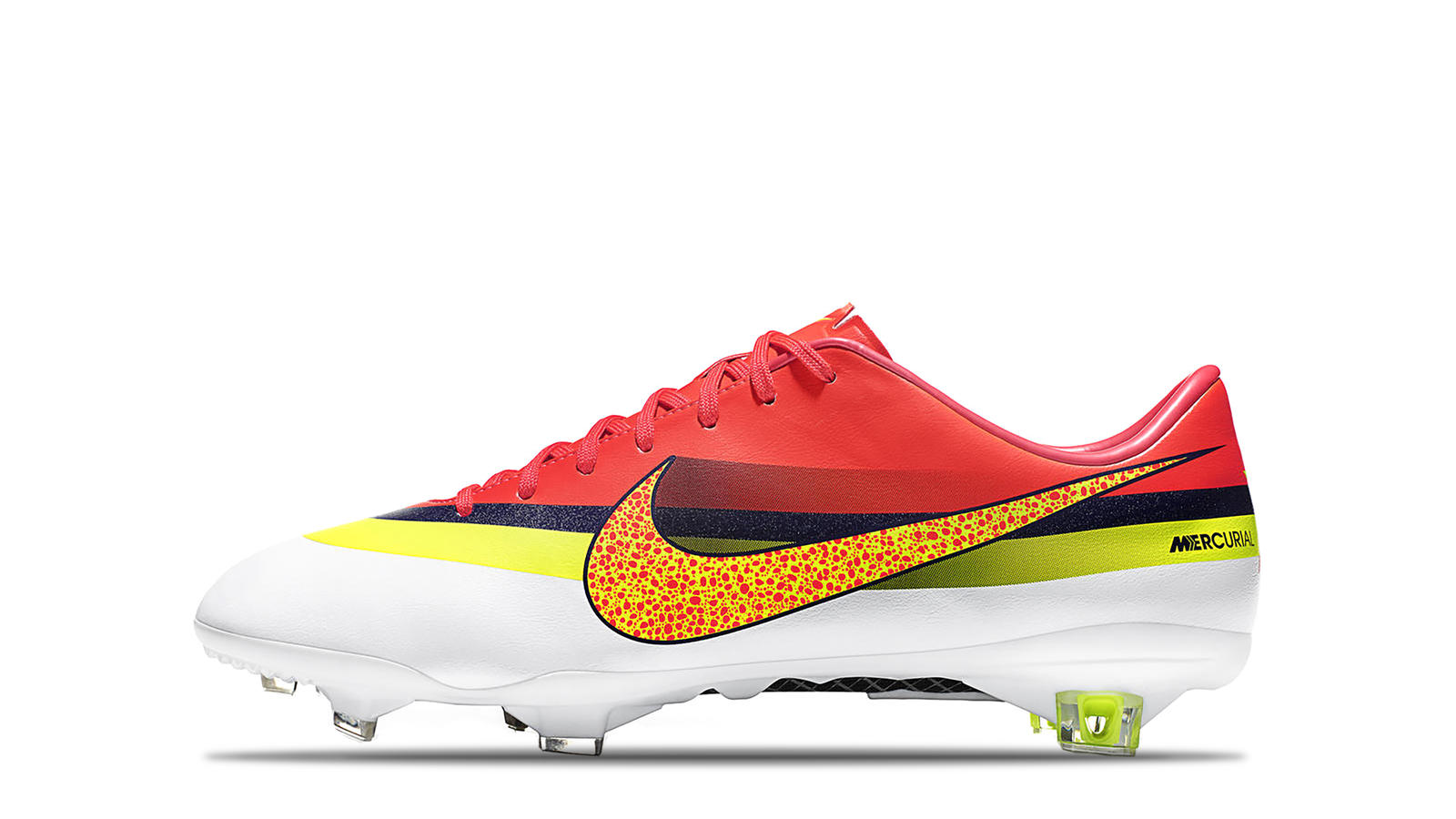 2013 Mercurial Vapor IX CR7 White Volt Total Crimson