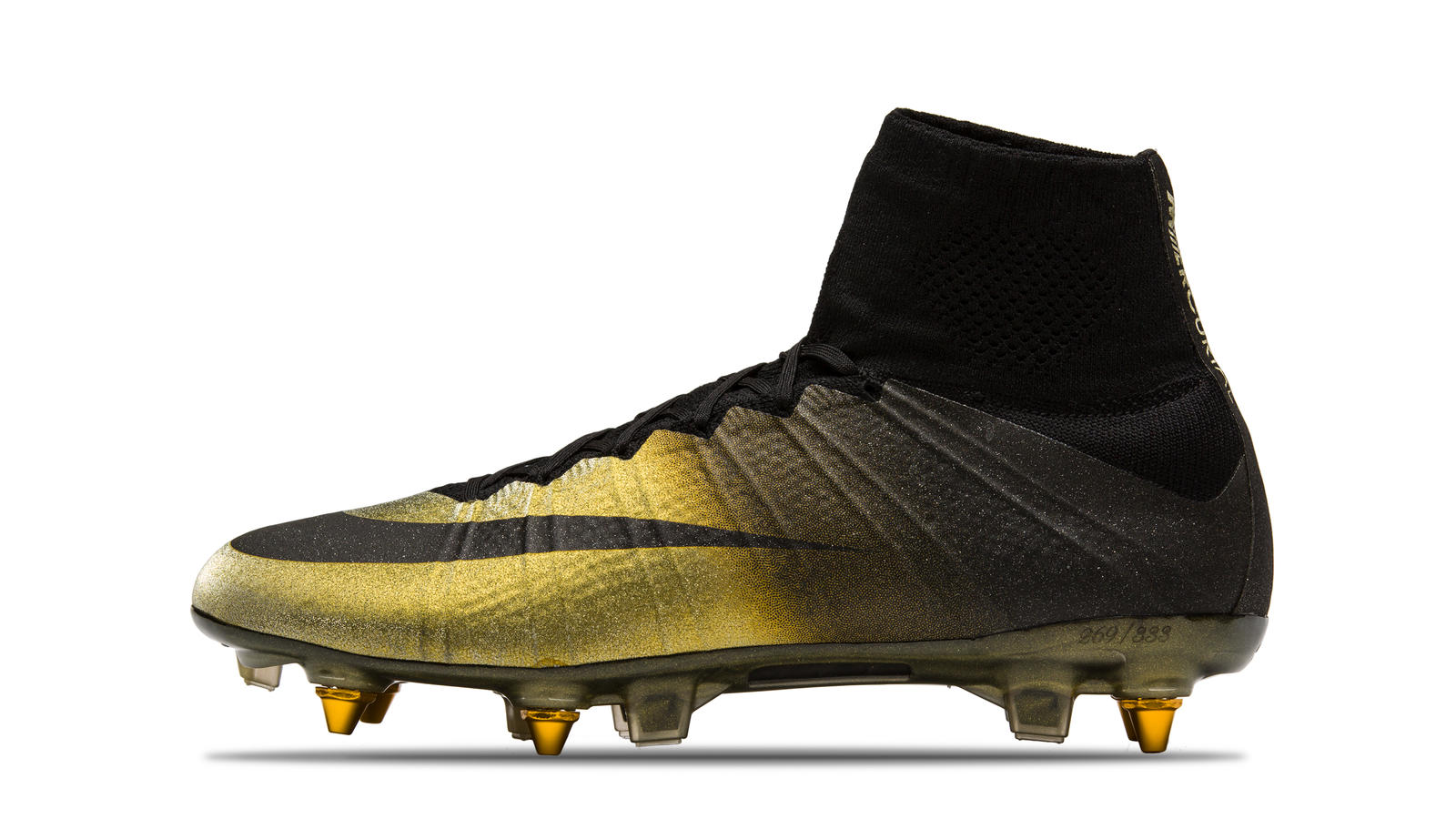 2015 Mercrurial Superlfy IV CR7 SE Ballon DOr Gold Black Diamond