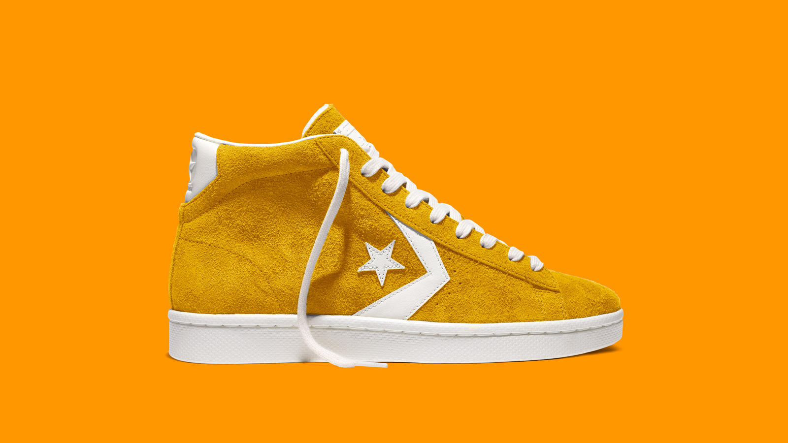 converse shoes pro vintage suede yellow boots