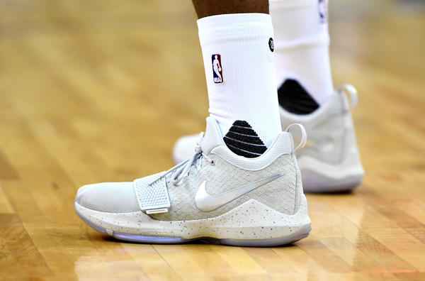 pretty nice de719 22059 PG1 Reflects Paul Georges Versatility on Both Sides of the Court .. 100% Nike  Pg 1 2K Grey White ...