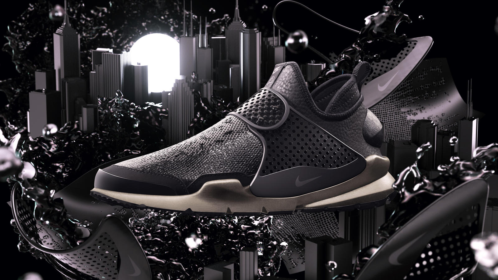 The NikeLab Sock Dart Mid x Stone