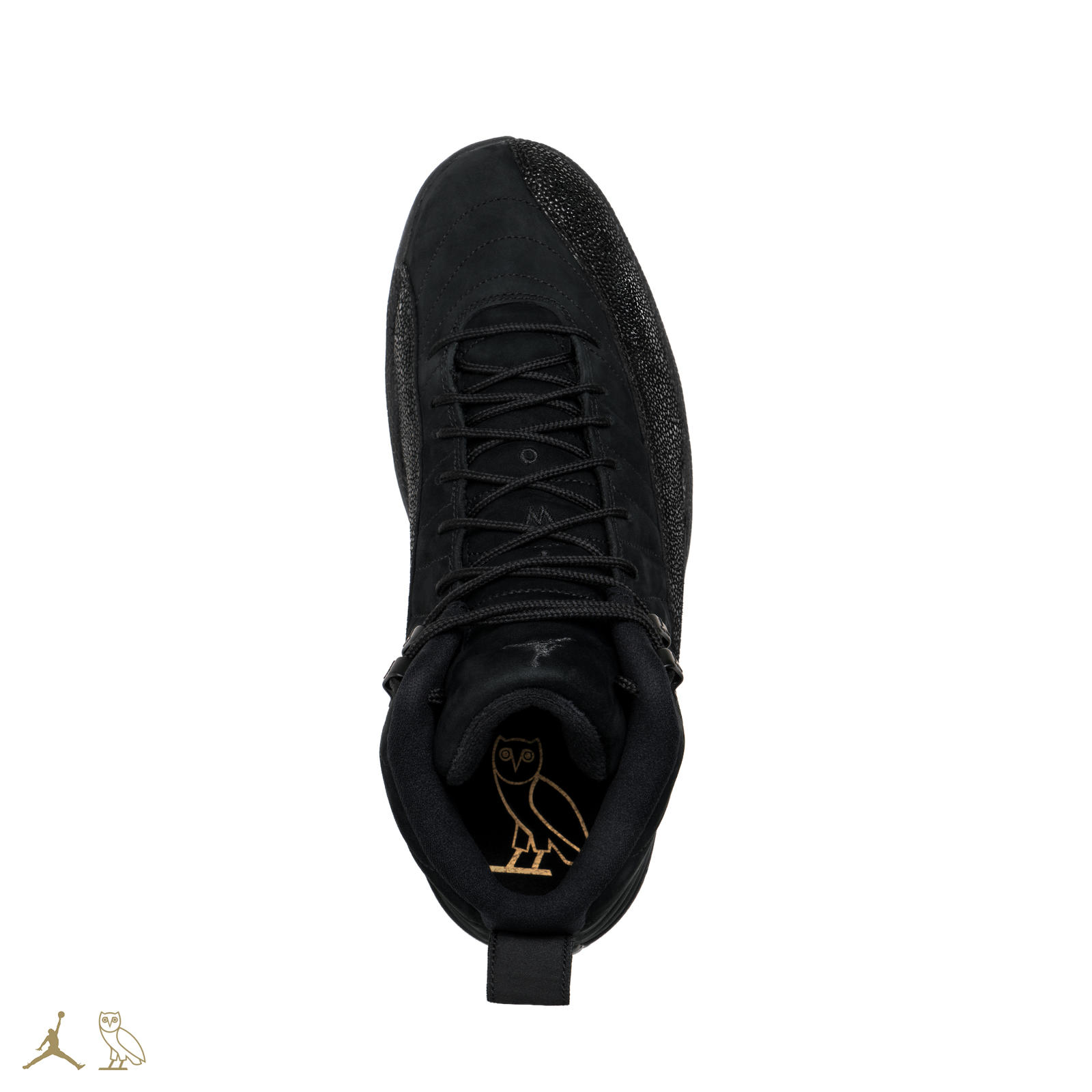 Black ovo jordan 12s 03 square 1600