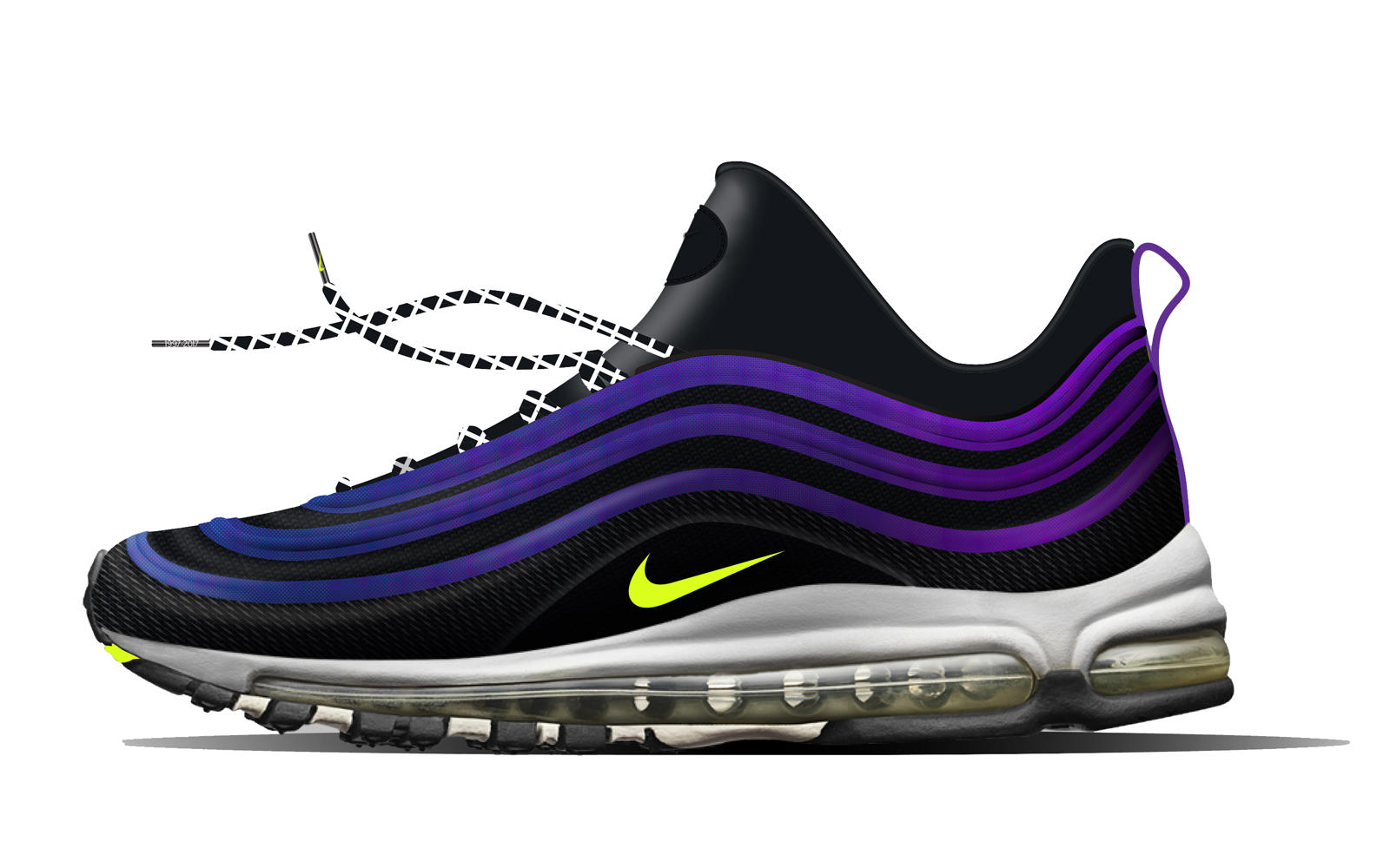 Konno's shoe combines a Flyknit upper and Air Max 97 airbag with  inspiration from Tokyo's club scene and street culture.