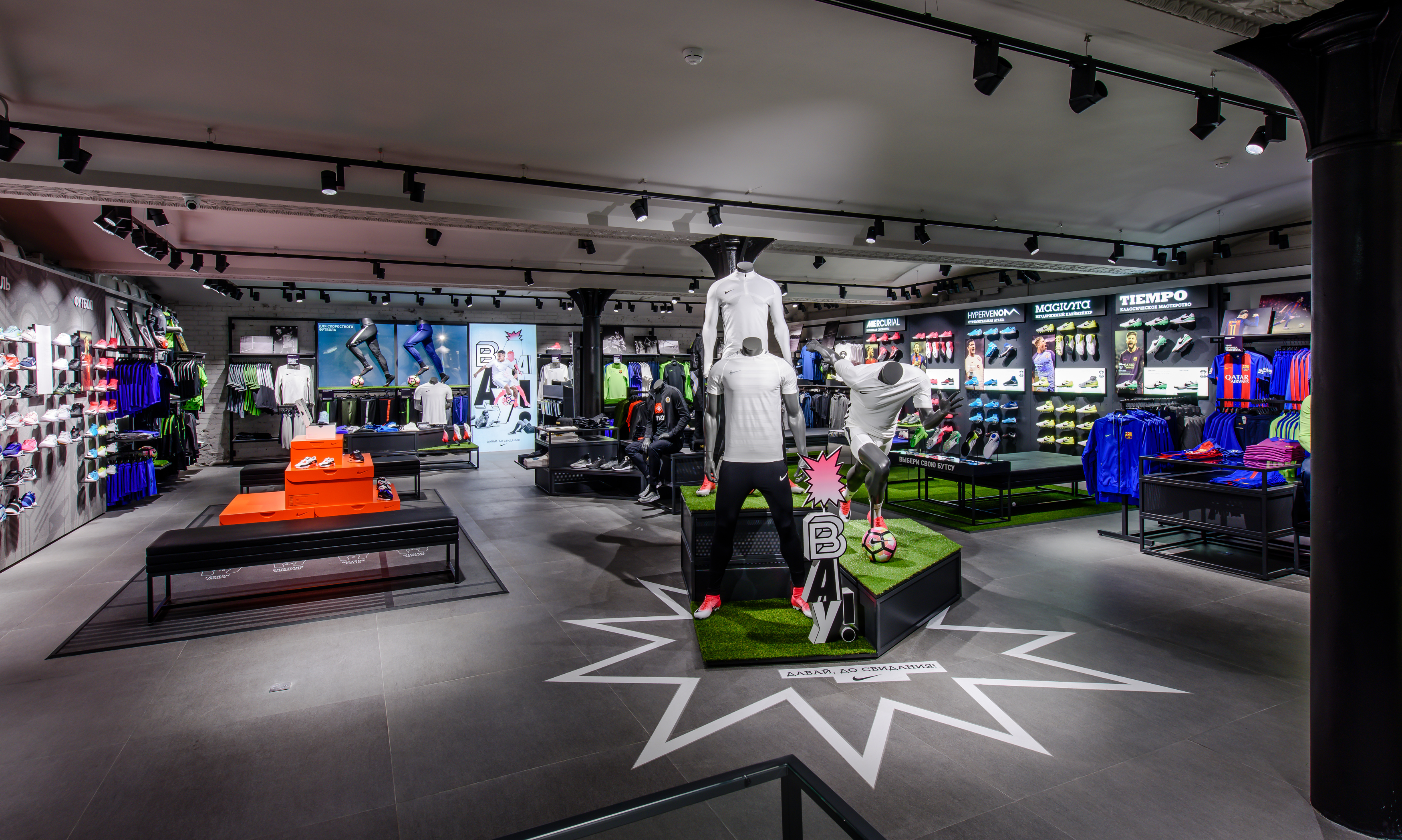first look inside nike moscow nike news. Black Bedroom Furniture Sets. Home Design Ideas