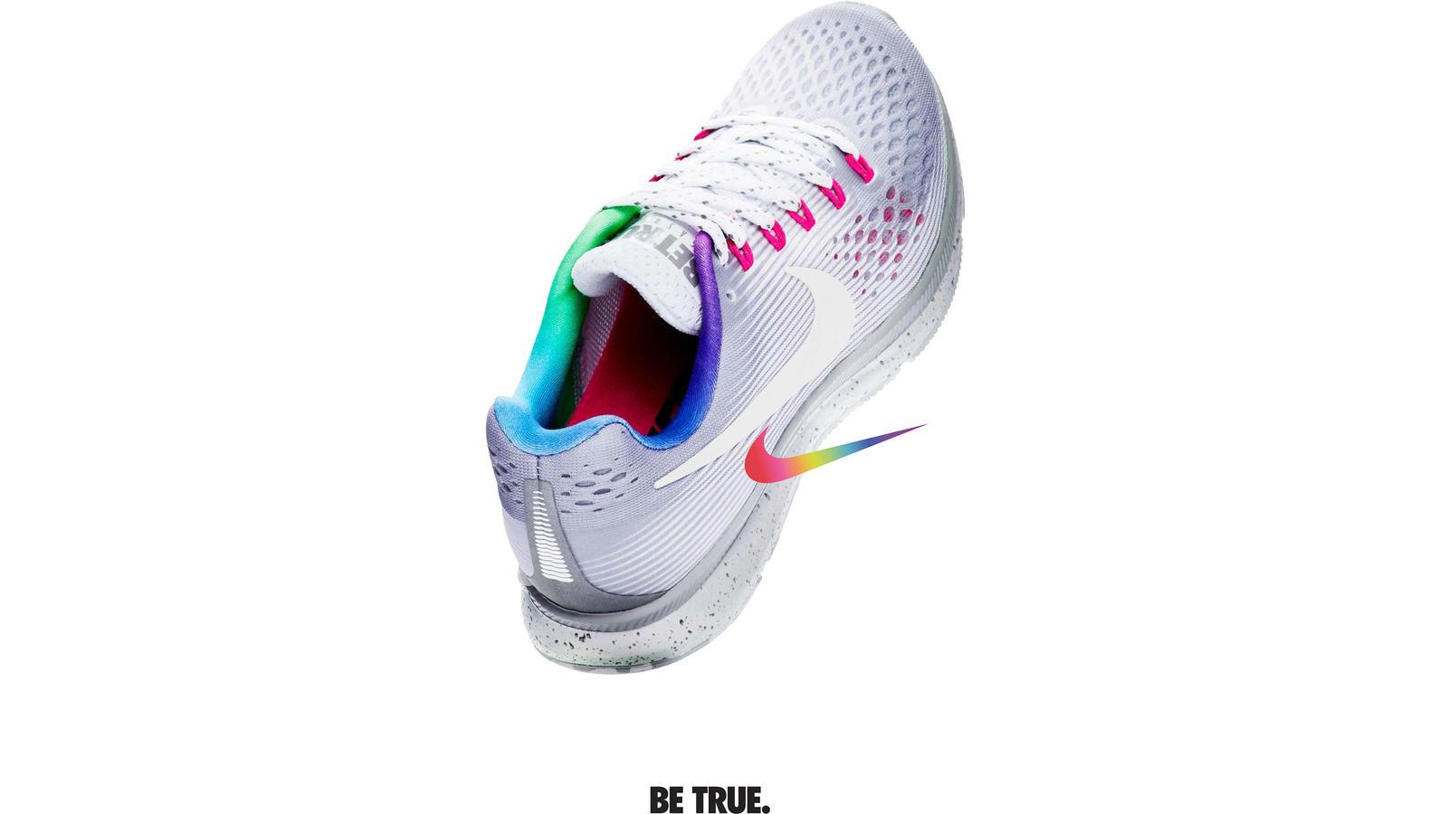 nike running shoes rainbow
