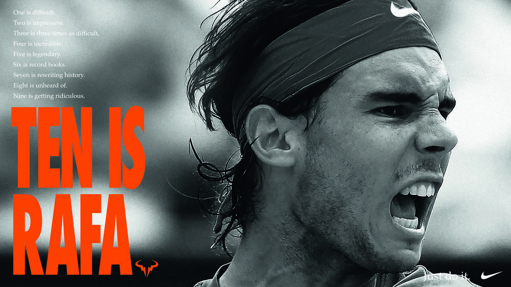 Nike celebrates Rafael Nadal's 10th win on Paris clay