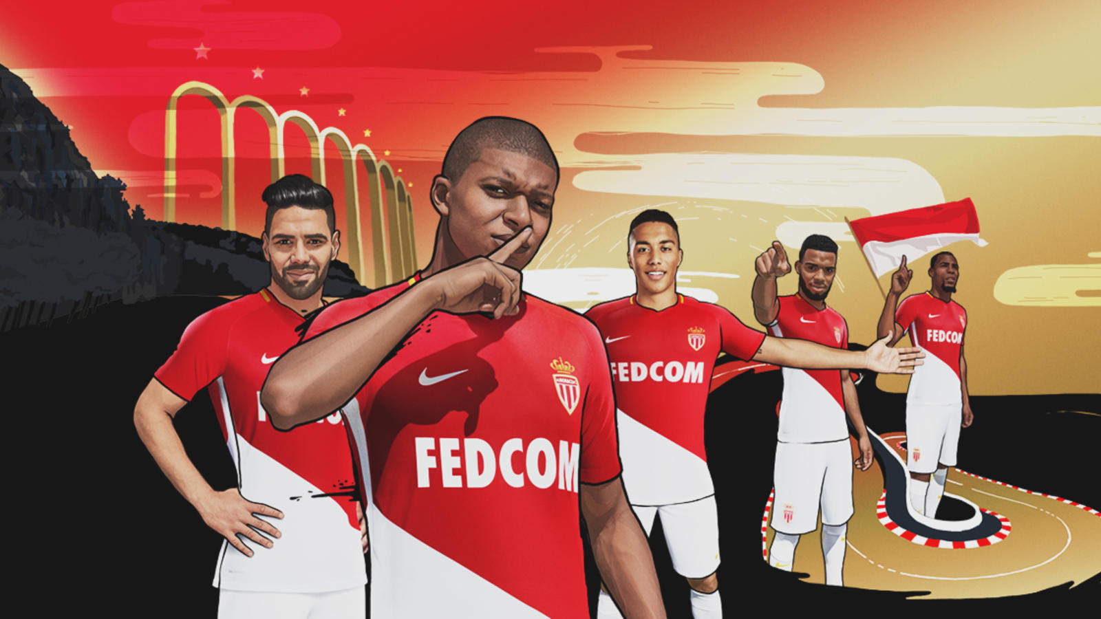 AS Monaco new home kit 2017_18