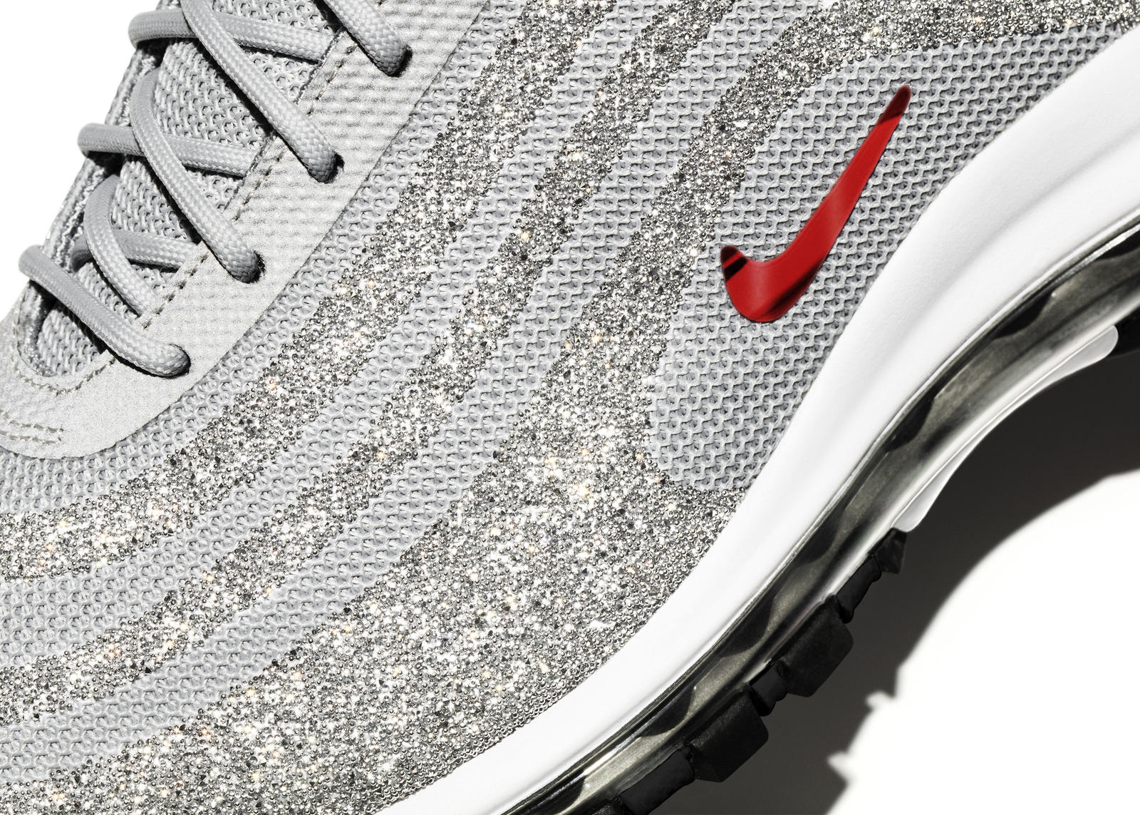 nike shoes air max grey. a pair of nike air max 97 lx with swarovski crystals, in women\u0027s size 7, has approximately 55,690 crystals total on the uppers. shoes grey