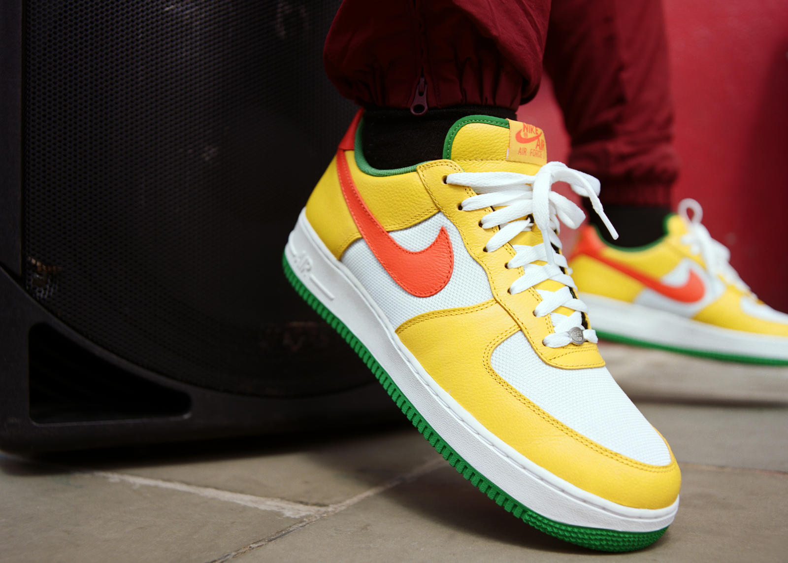 nike air force 1 green and yellow