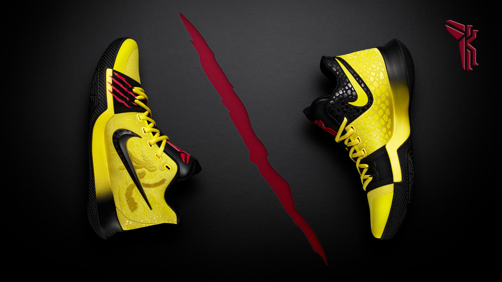 new concept f5407 e16bf Kyrie Pays Respect to Kobe and Bruce Lee with Special KYRIE ...
