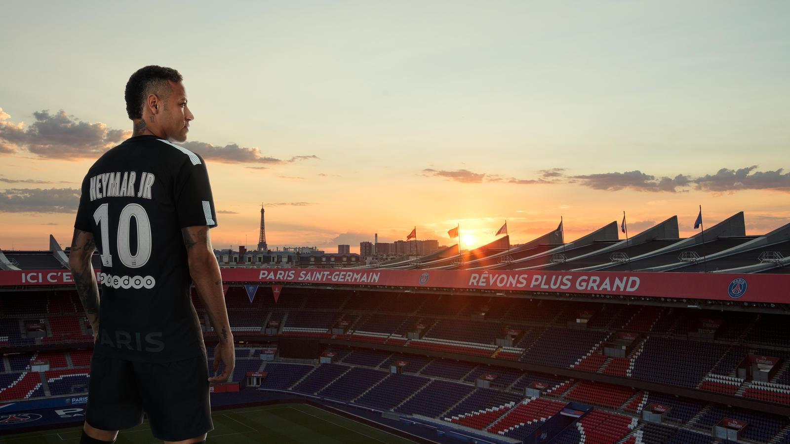 size 40 93f72 c3308 Neymar Jr. Reveals Paris Saint Germain Third KIT 2017-18 ...