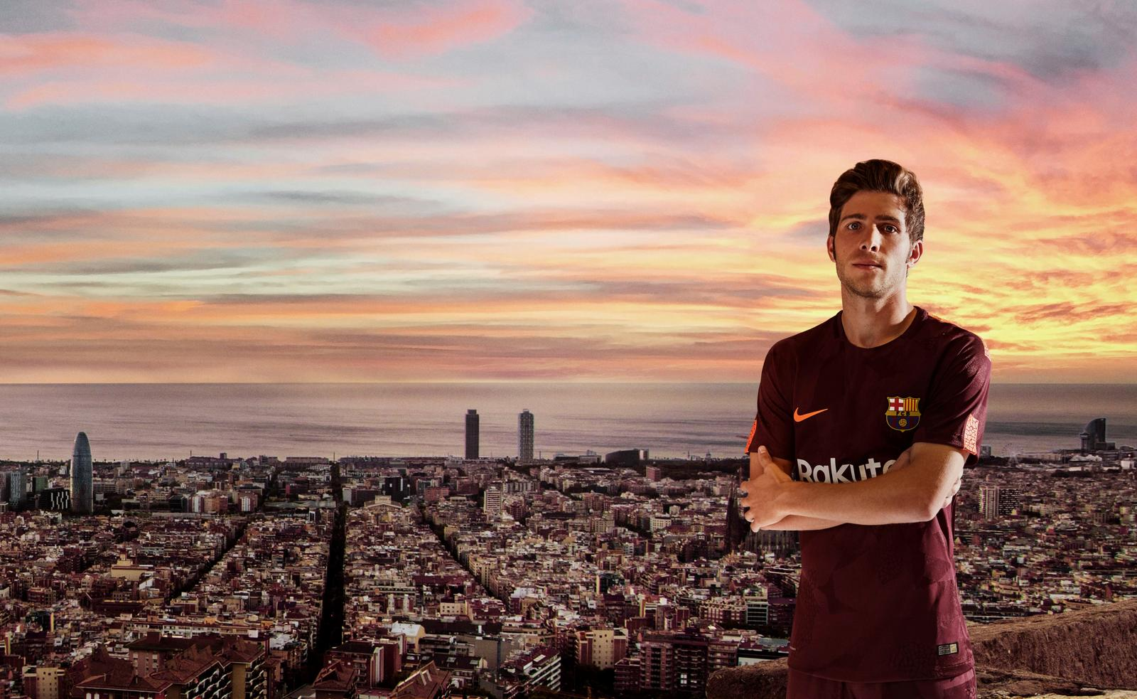 Nike YOUTH Barcelona Away Soccer Stadium Jersey 2017-18