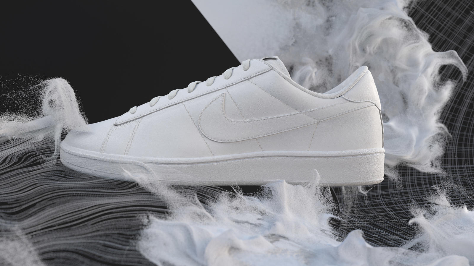 Image result for The first shoe to be released in Flyleather is the company's Tennis Classic, along with limited editions of the Air Force 1. [Photo: Nike]