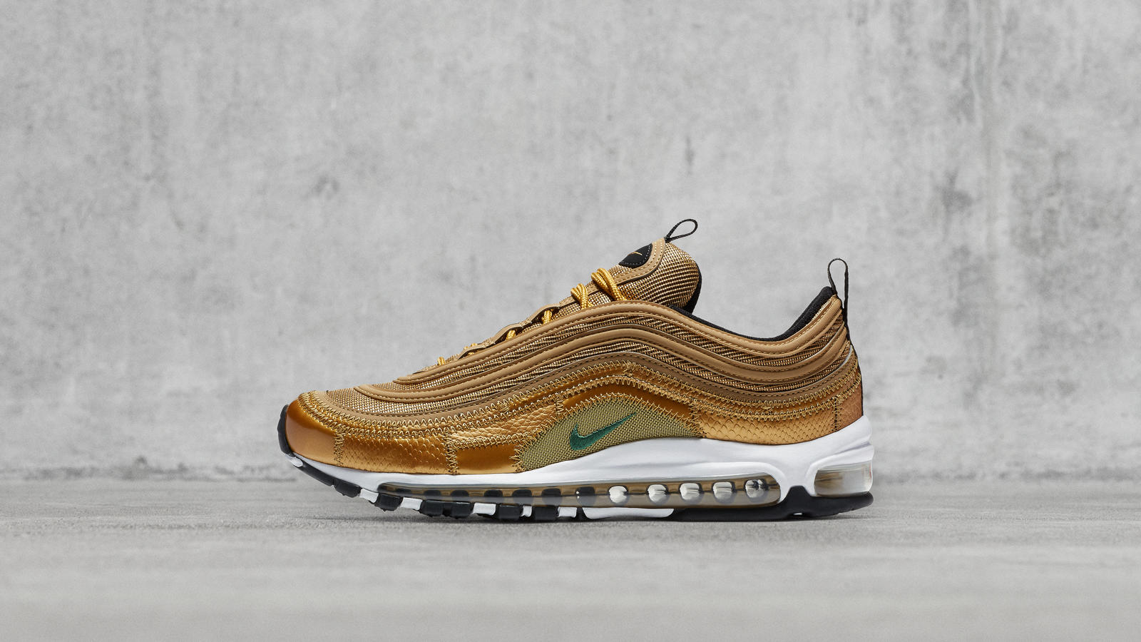 Nike Air Max 97 Premium SE Metallic Gold Schwarz Herren in
