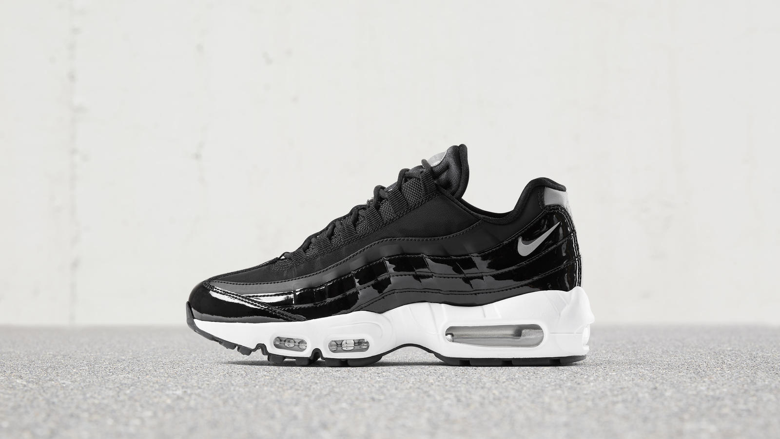 nike air max 95 grey and black