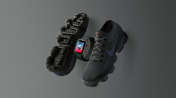 Run Stealth With Midnight Fog Nike Apple Watch and Nike Air Vapormax