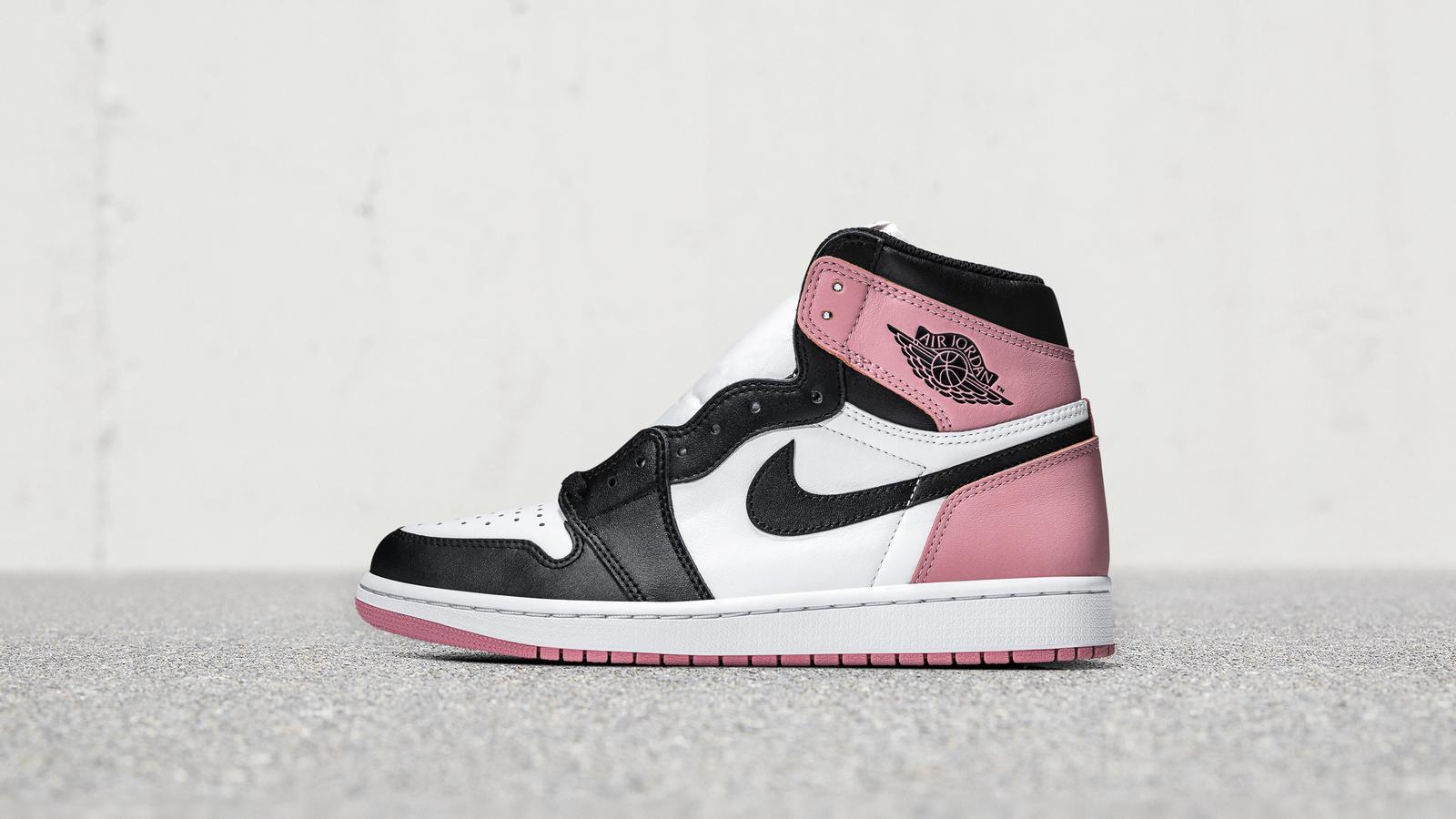 air jordan 1 rosa e nere