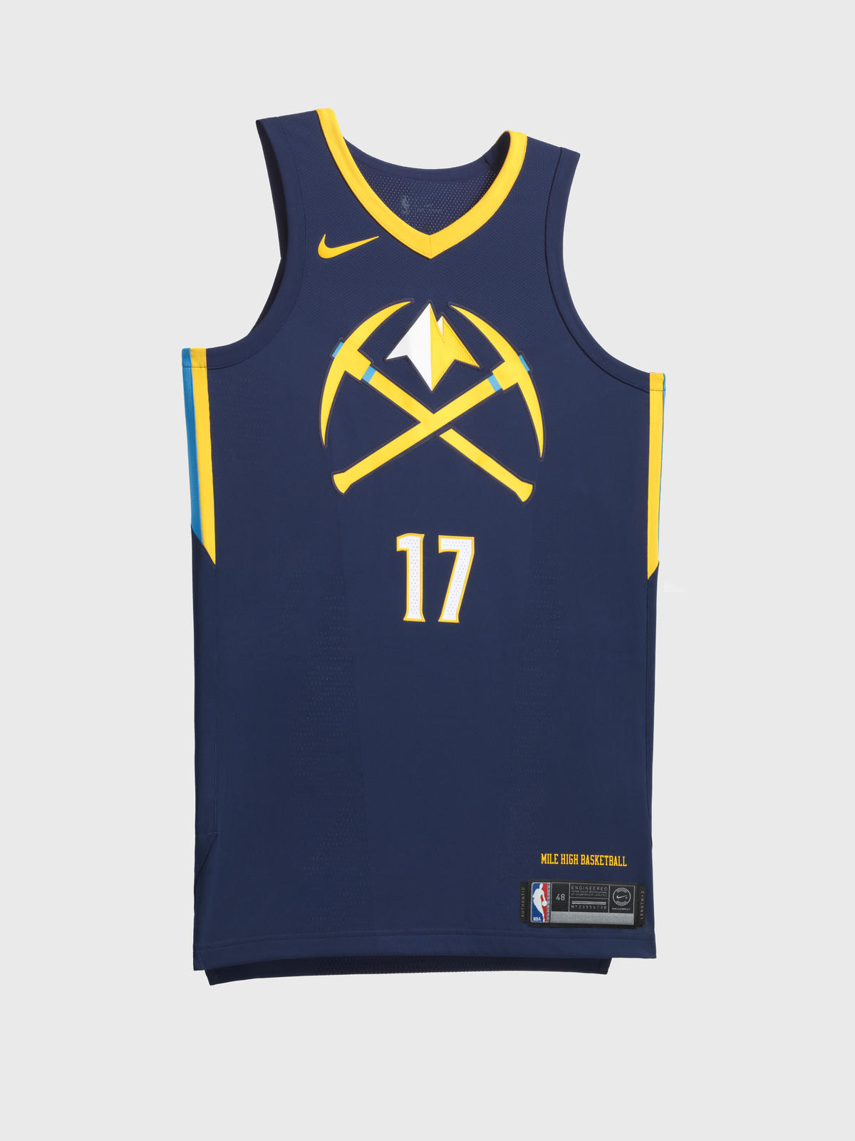 f607a137a Nike NBA City Edition Uniform 57. Denver Nuggets