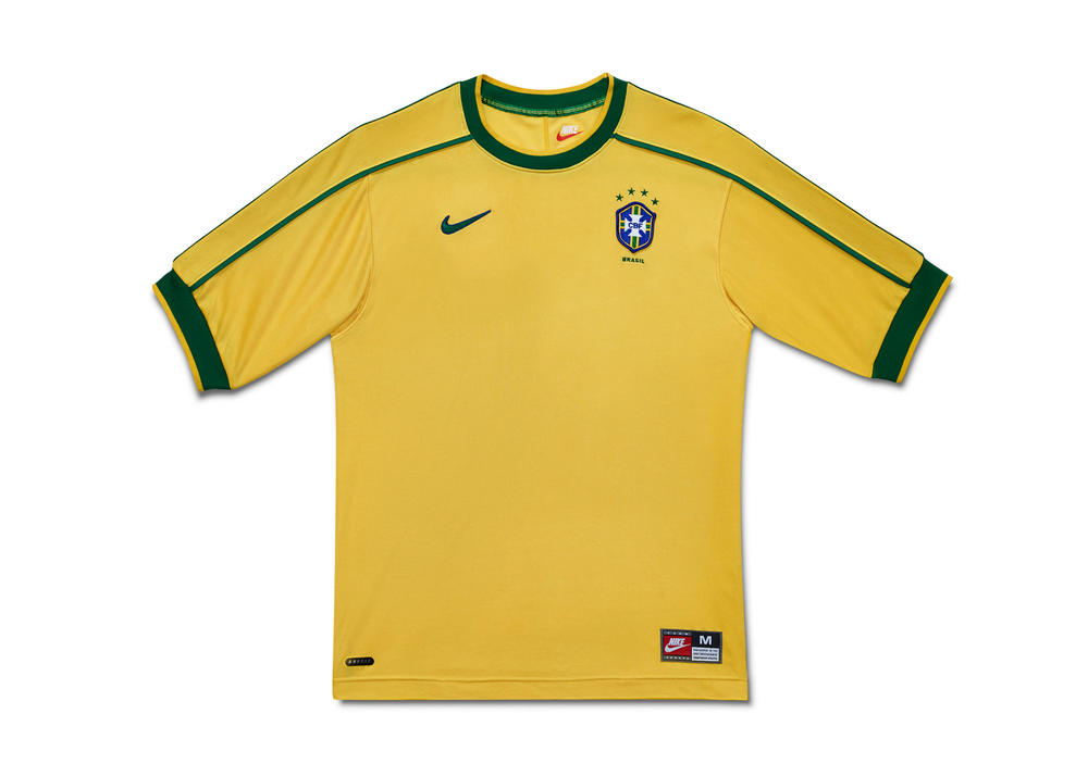 Nike's Designs for the Brasil National Team Kit from 1996 to 2018