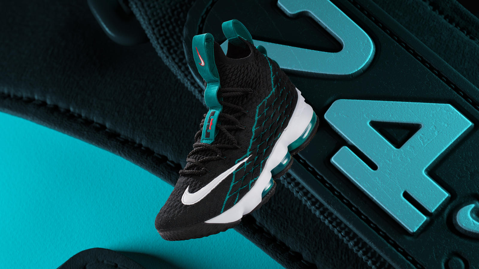 "Crafted in homage to one of James's favorite athletes, the LeBron 15  ""Griffey"" ..."
