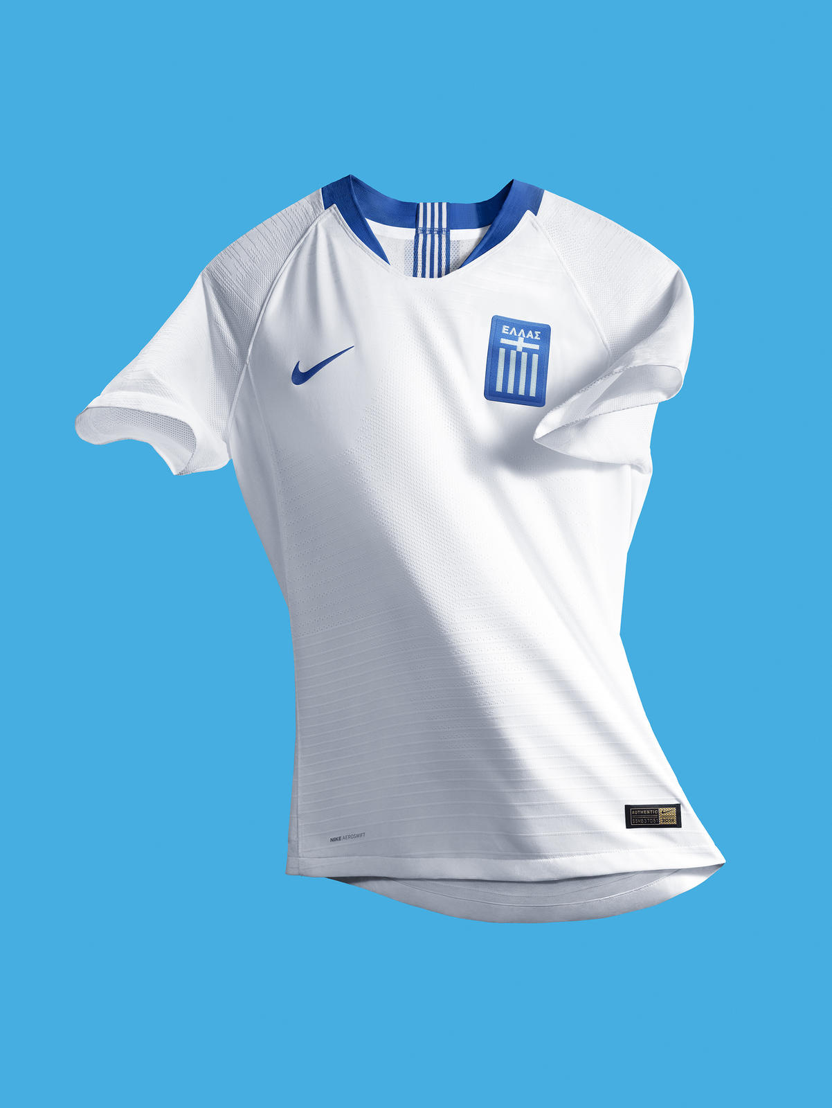 8d921d026 Bask in Greece s Glorious Hellenic Blue Away and Crisp White Home Kits 1.  The Hellenic Football Federation s 2018 ...