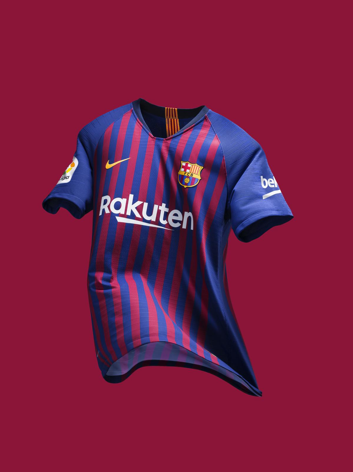 84a105131b5 FC Barcelona's 2018-19 Home Kit Unites the City's 10 Districts ...
