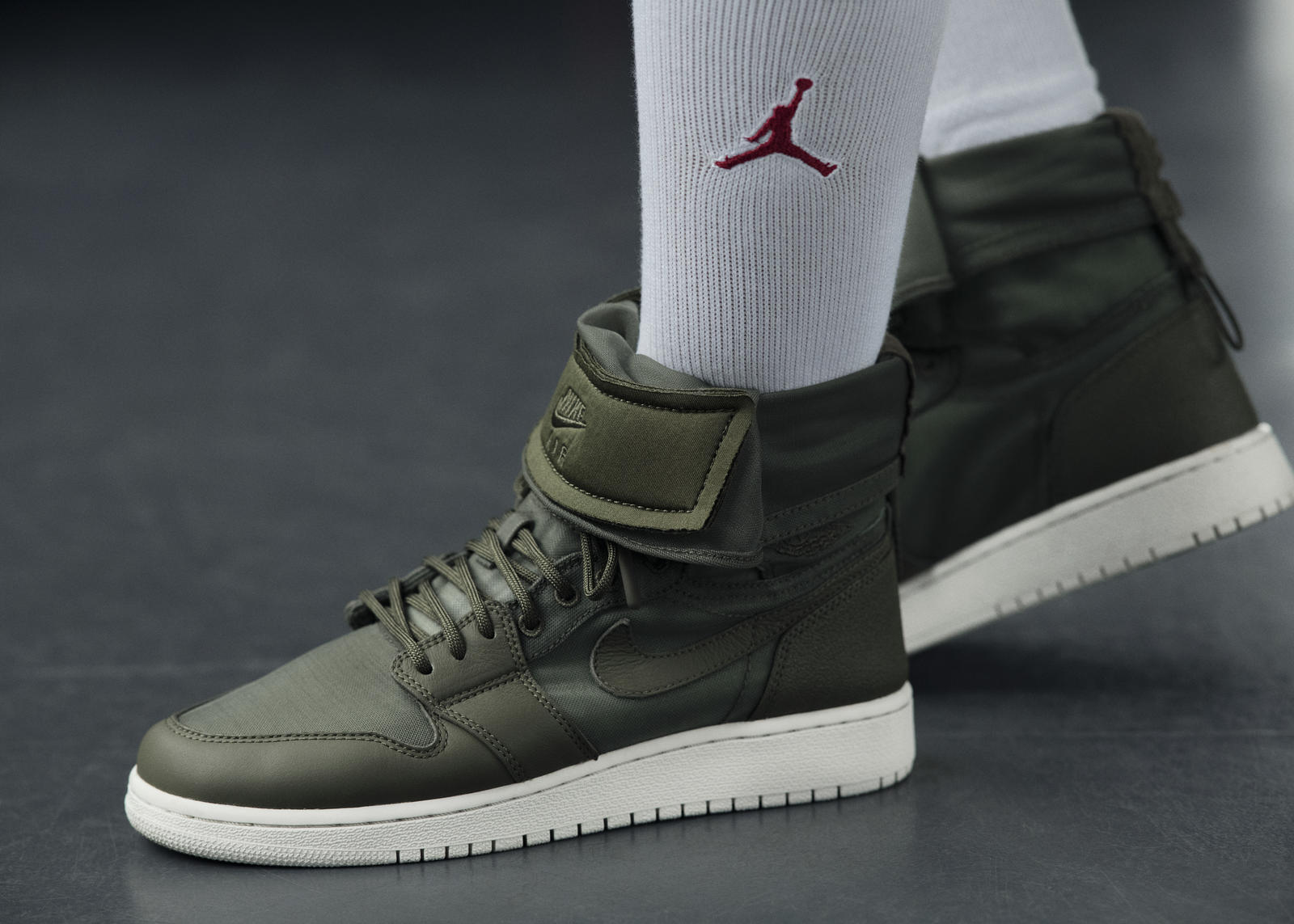 buy popular e08b5 58463 AIR JORDAN I HIGH OG  This collection adds a new twist to the AJI High OG by  adding Nike Air messaging to Guava Ice, Olive Canvas and Vintage Coral ...