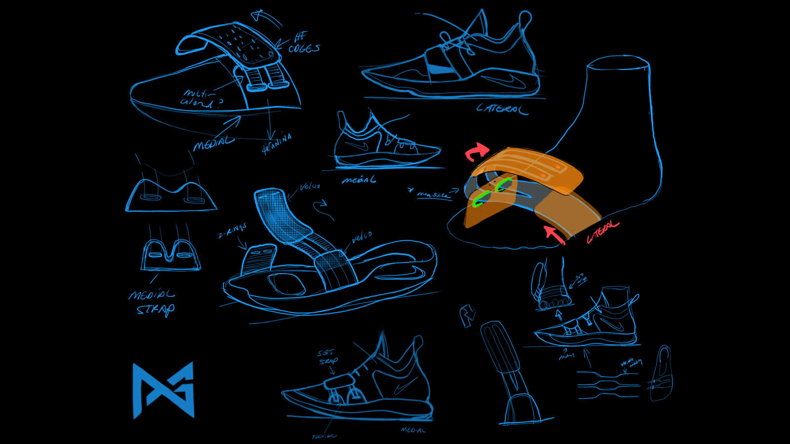 Paul george pg 2 5 sketch page nike news hd 1600