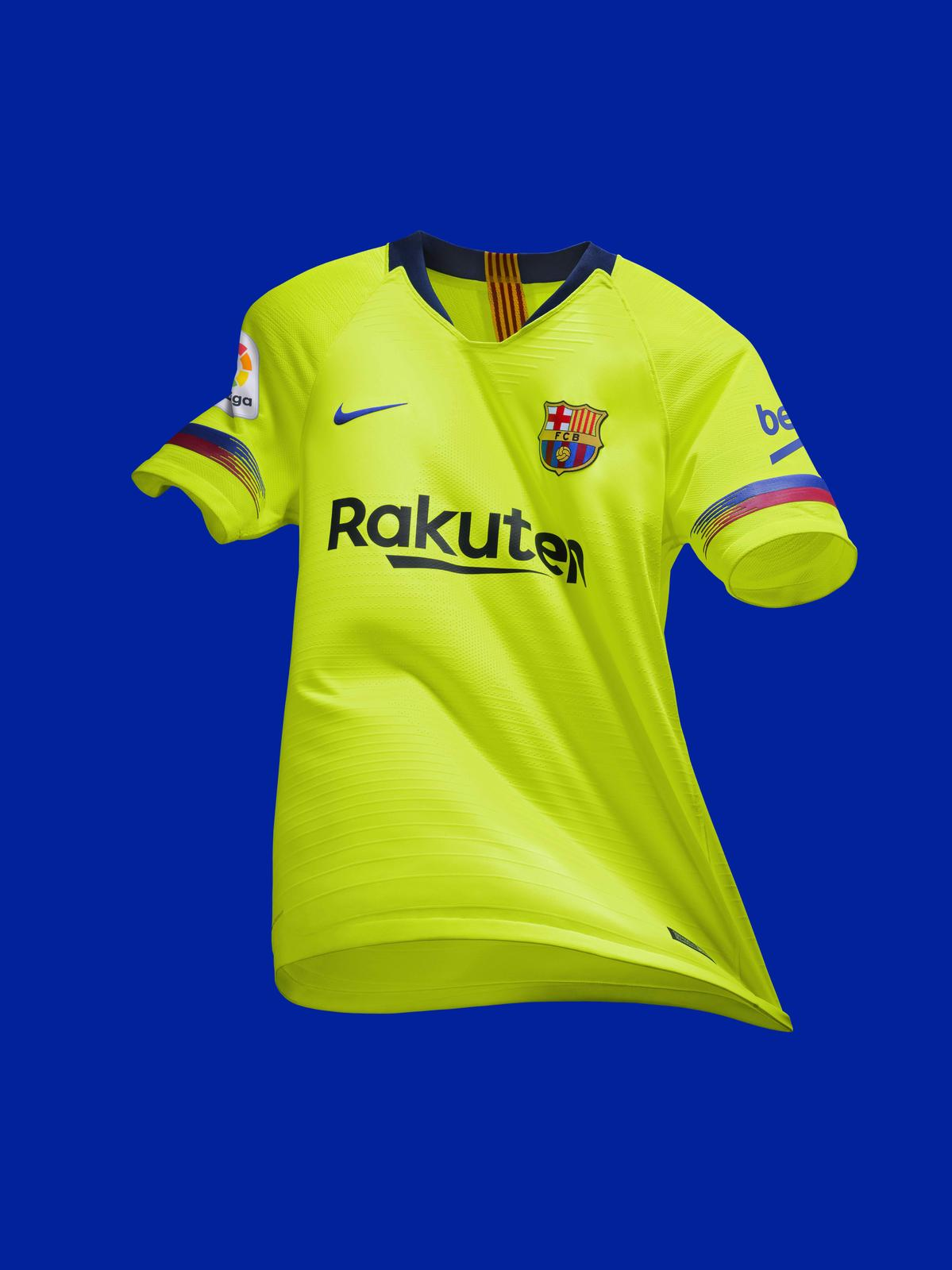 buy online efe21 e0d89 FC Barcelona's Latest Away Kit Revels in a Daring History ...