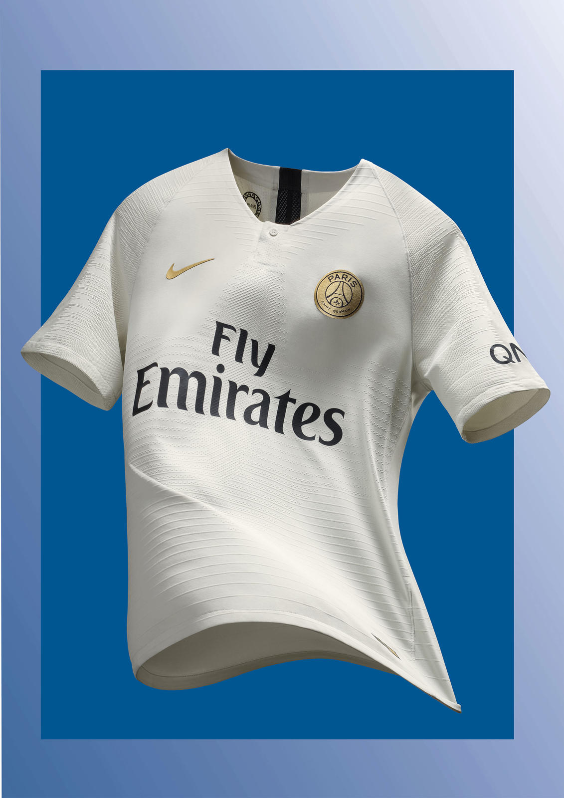 9c76847d1 A golden club crest and golden nike swoosh embellish light stone new away  kit jpg 1131x1600