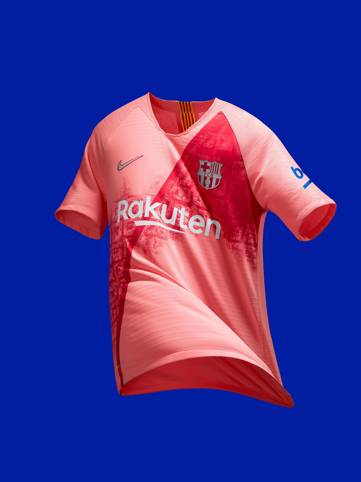 FC Barcelona s 2018-19 Third Kit Continues a Bold and Beautiful Celebration  of the City 9ae82488f3f79