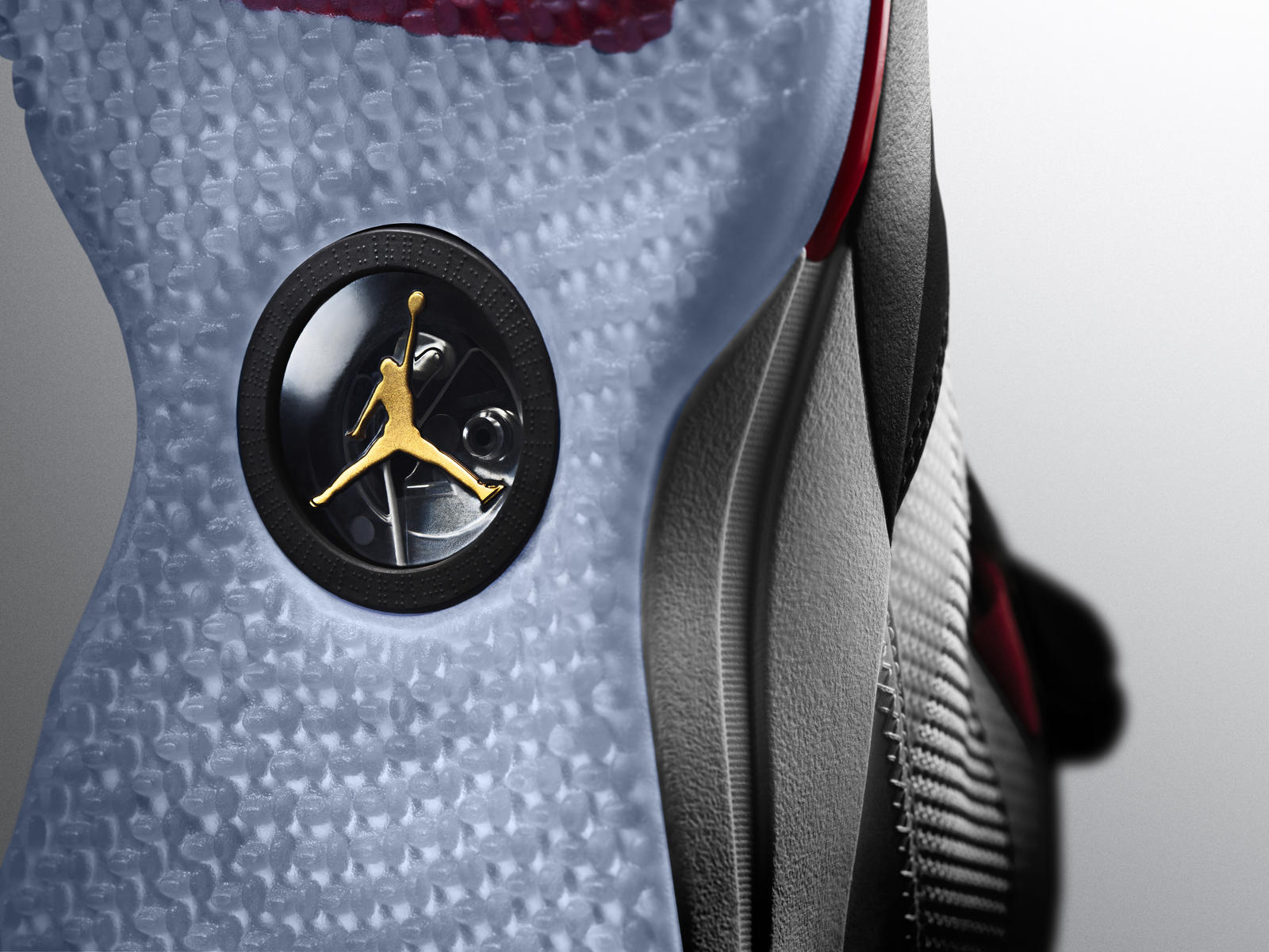 b8817f1d1b7 The Nike FastFit mechanism is visible under the arch of the Air Jordan  XXXIII.