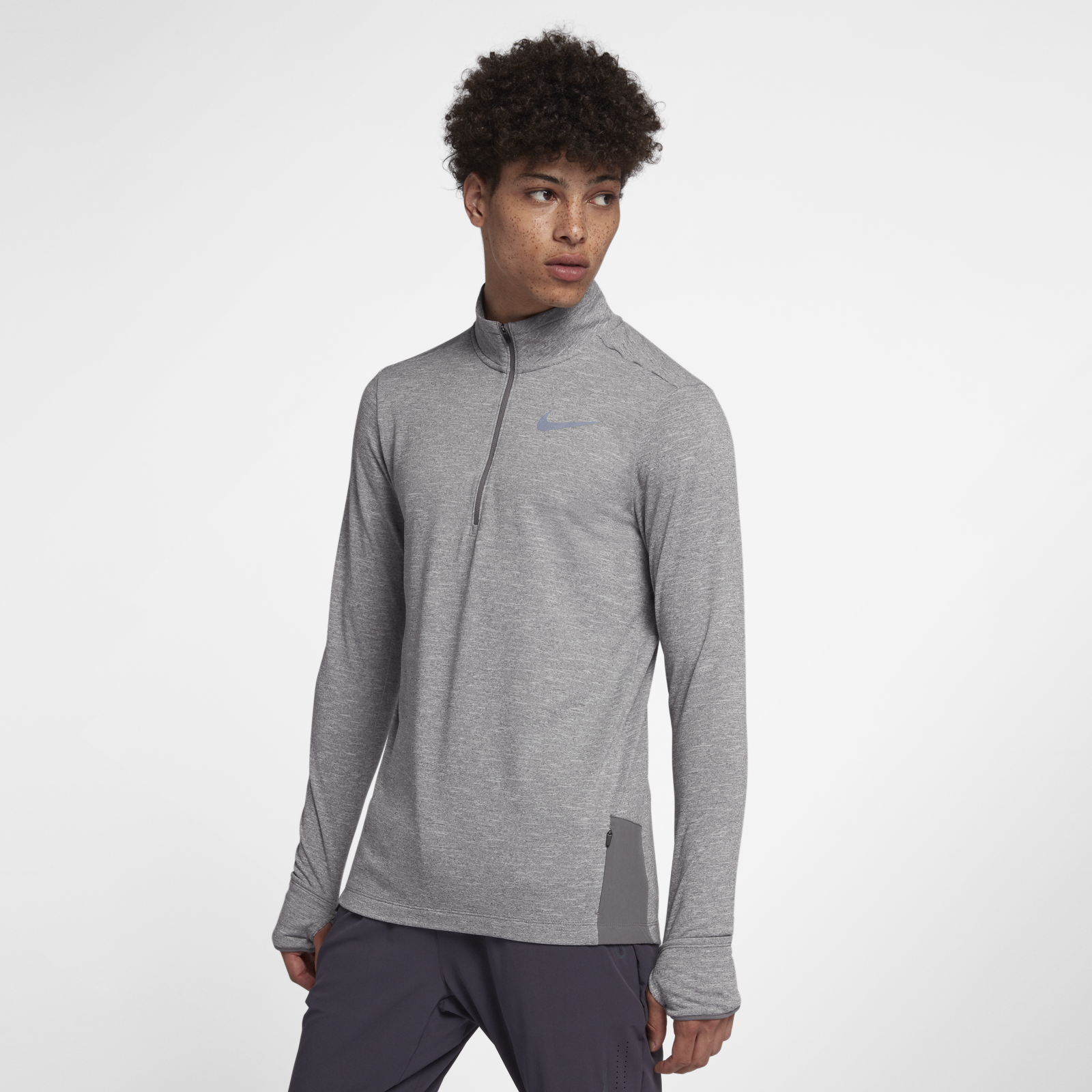 Warm mens sphere half zip square 1600