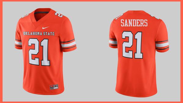 sale retailer 64224 4c878 Oklahoma State University Barry Sanders Throwback Jerseys ...