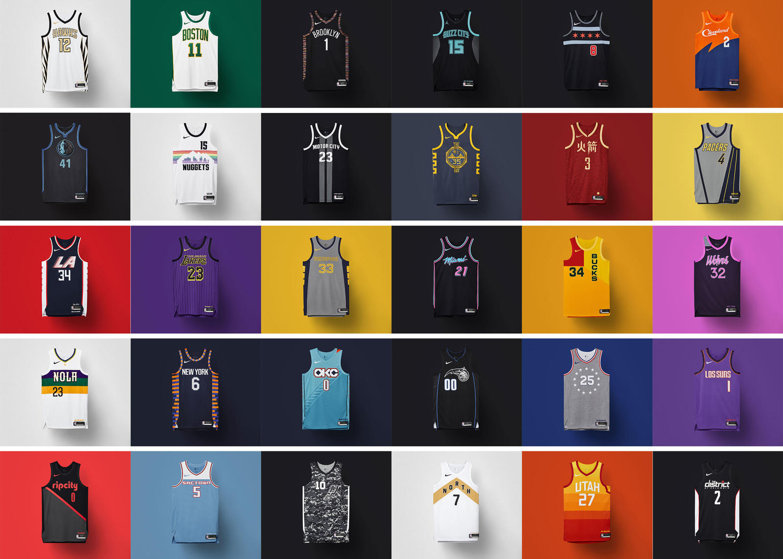 04548417244 NBA City Edition Uniforms 2018-19  Brooklyn