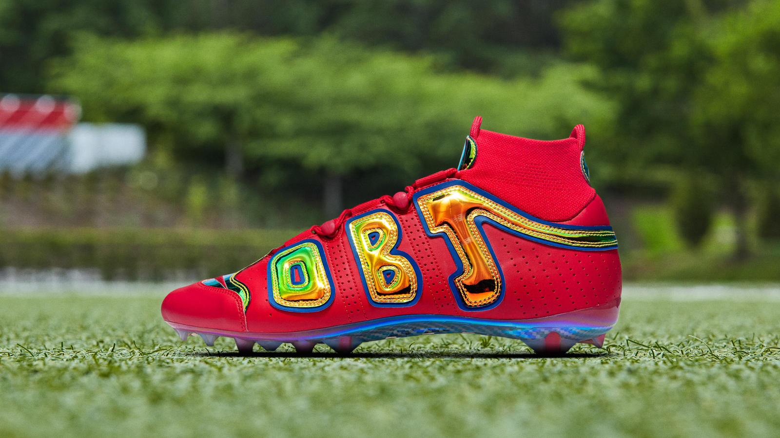 "Nike Vapor Untouchable Pro 3 OBJ Uptempo PE ""Bright Lights"" 0"