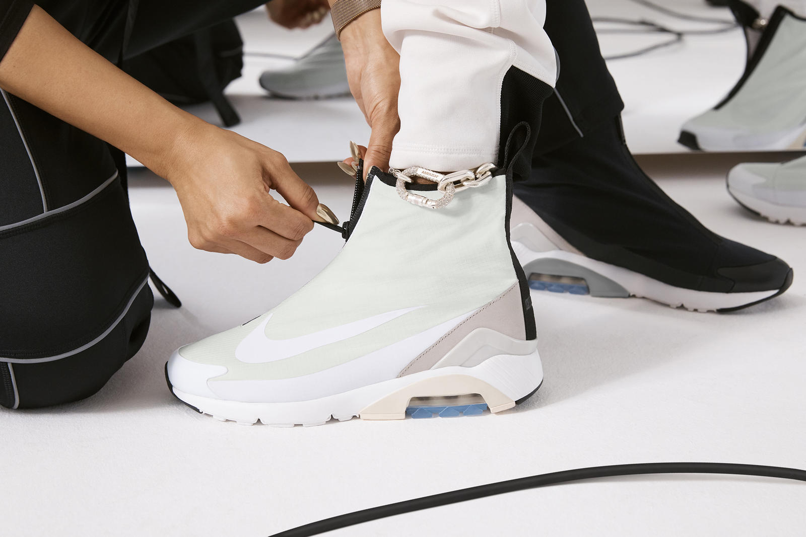 brand new fc275 7c631 The Nike x AMBUSH® Air Max 180 drops April 26 in Japan and April 27  worldwide at AMBUSH® WORKSHOP, AMBUSH® WEBSHOP, and at select Nike Lab  retail stores and ...