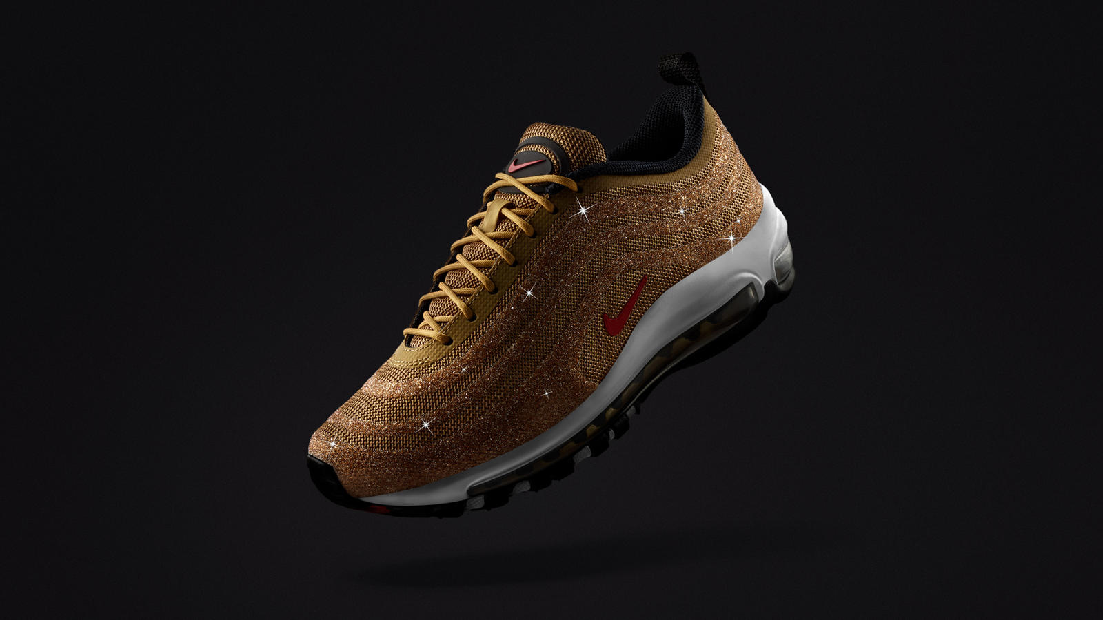huge discount b9e84 694b6 Nike Air Max 97 Gold Swarovski® Crystal 0