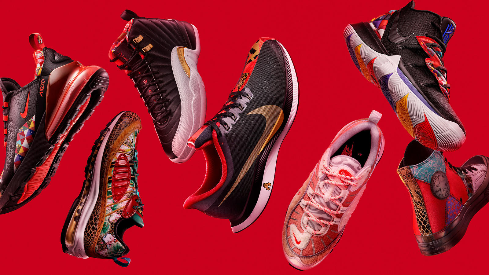 6d6388a4b0545 The Year of the Pig Chinese New Year Collection Brings Together 12 Years of  Nike CNY