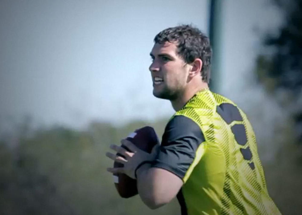 Nike signs quarterback Andrew Luck